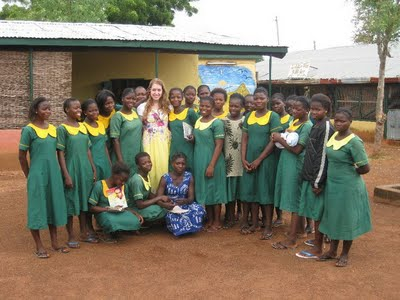 Eleanor Segall in Ghana Teaching Literacy